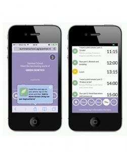 Mobiele app registratie WUR ontwikkeling